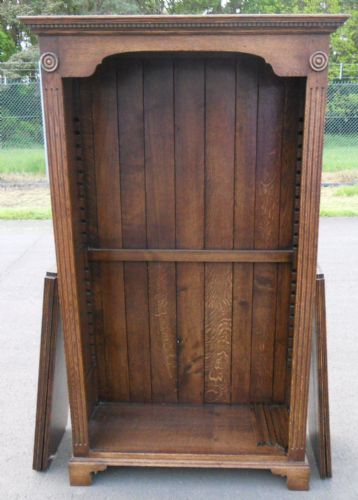 Large Oak Standing Open Bookcase by Hines of Oxford